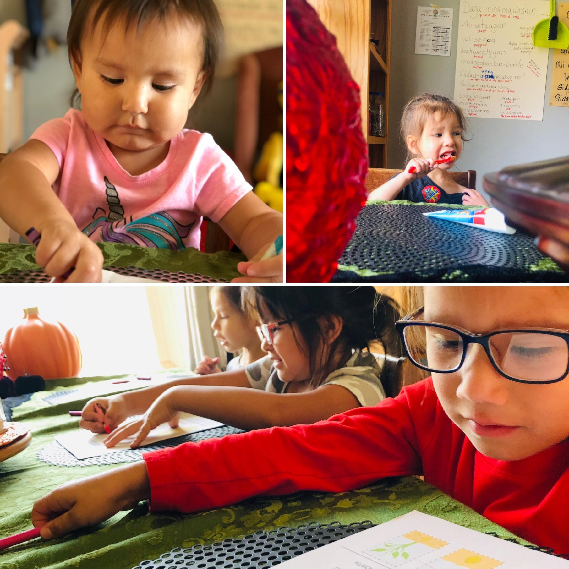 Images of children in the classroom